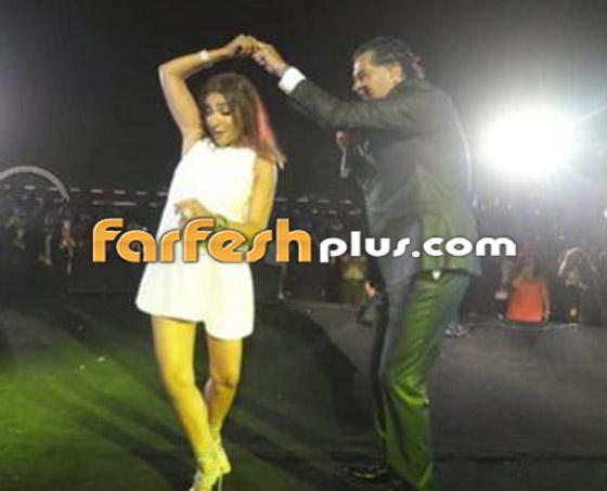 فيديو: روجينا بفستان جريء ووصلة رقص مثيرة مع راغب علامة صورة رقم 8
