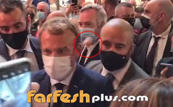 بالفيديو: الاعتداء على الرئيس الفرنسي ماكرون ورشقه بالبيض! صورة رقم 1