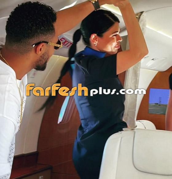 فيديو: محمد رمضان يرقص مع مضيفتي طيران داخل الطائرة.. ويعلق: المضيفة الفرفوشة صورة رقم 5