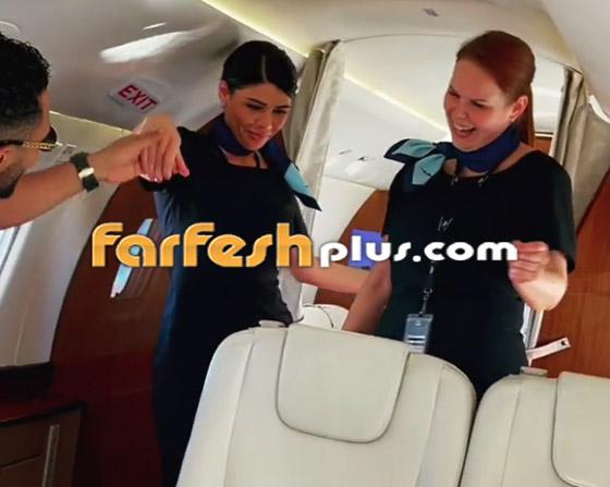 فيديو: محمد رمضان يرقص مع مضيفتي طيران داخل الطائرة.. ويعلق: المضيفة الفرفوشة صورة رقم 4