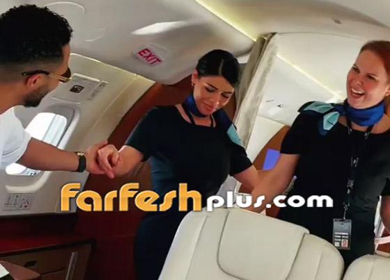 فيديو: محمد رمضان يرقص مع مضيفتي طيران داخل الطائرة.. ويعلق: المضيفة الفرفوشة صورة رقم 7