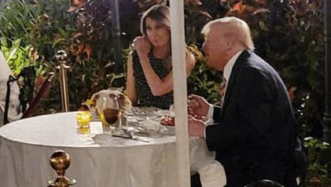 بالصور.. ميلانيا وترامب والعشاء الرومانسي