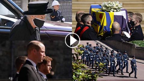 شاهد.. مراسم تشييع الأمير فيليب بحضور ملكة بريطانيا