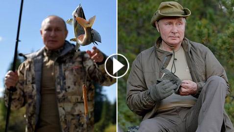 ردا على شائعات إصابته بمرض خطير.. بوتين يستعرض عضلاته برحلة صيد