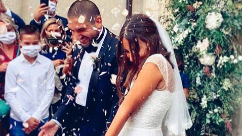 هبة طوجي تنشر الصور الأولى من حفل زفافها على إبراهيم معلوف